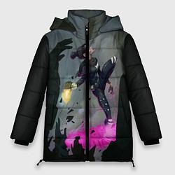 Женская зимняя 3D-куртка с капюшоном с принтом Apex Legends: Wraith, цвет: 3D-черный, артикул: 10172934506071 — фото 1
