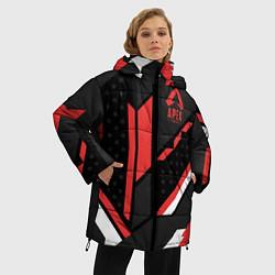 Женская зимняя 3D-куртка с капюшоном с принтом Apex Cyrex, цвет: 3D-черный, артикул: 10173139106071 — фото 2