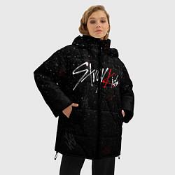 Женская зимняя 3D-куртка с капюшоном с принтом STRAY KIDS, цвет: 3D-черный, артикул: 10185255706071 — фото 2