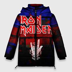 Женская зимняя 3D-куртка с капюшоном с принтом Iron Maiden, цвет: 3D-черный, артикул: 10201644706071 — фото 1