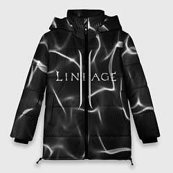 Женская зимняя 3D-куртка с капюшоном с принтом LINEAGE 2, цвет: 3D-черный, артикул: 10202647106071 — фото 1