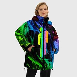 Куртка зимняя женская BILLIE EILISH цвета 3D-черный — фото 2