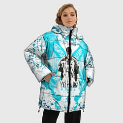 Женская зимняя 3D-куртка с капюшоном с принтом NILETTO, цвет: 3D-черный, артикул: 10211069706071 — фото 2