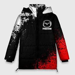 Женская зимняя 3D-куртка с капюшоном с принтом MAZDA, цвет: 3D-черный, артикул: 10211866306071 — фото 1