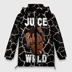 Женская зимняя 3D-куртка с капюшоном с принтом Juice WRLD, цвет: 3D-черный, артикул: 10212973906071 — фото 1