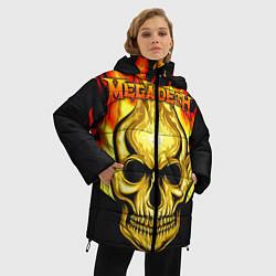 Женская зимняя 3D-куртка с капюшоном с принтом Megadeth, цвет: 3D-черный, артикул: 10218169506071 — фото 2