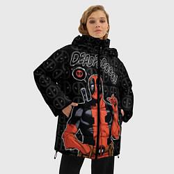 Женская зимняя 3D-куртка с капюшоном с принтом Deadpool, цвет: 3D-черный, артикул: 10275021306071 — фото 2