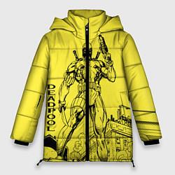 Женская зимняя 3D-куртка с капюшоном с принтом Deadpool, цвет: 3D-черный, артикул: 10275024706071 — фото 1
