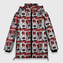 Женская зимняя 3D-куртка с капюшоном с принтом Deadpool, цвет: 3D-черный, артикул: 10275024906071 — фото 1