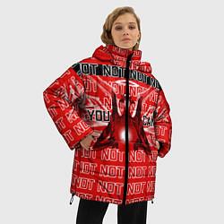 Женская зимняя 3D-куртка с капюшоном с принтом Evangelion Eva 01 You can not, цвет: 3D-черный, артикул: 10275315906071 — фото 2