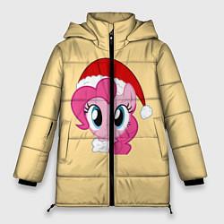 Женская зимняя 3D-куртка с капюшоном с принтом New Year Pony, цвет: 3D-черный, артикул: 10276680506071 — фото 1