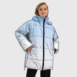 Куртка зимняя женская Небесно-голубой градиент - фото 2