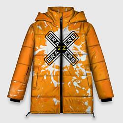 Женская зимняя 3D-куртка с капюшоном с принтом Brazzers, цвет: 3D-черный, артикул: 10278877106071 — фото 1