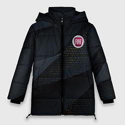 Женская зимняя 3D-куртка с капюшоном с принтом FIAT ФИАТ S, цвет: 3D-черный, артикул: 10284909706071 — фото 1