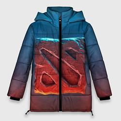 Куртка зимняя женская Dota 2: Symbol цвета 3D-черный — фото 1