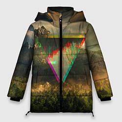 Женская зимняя 3D-куртка с капюшоном с принтом 30 seconds to mars, цвет: 3D-черный, артикул: 10063910306071 — фото 1