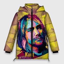 Куртка зимняя женская Kurt Cobain: Abstraction цвета 3D-черный — фото 1