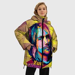 Куртка зимняя женская Kurt Cobain: Abstraction - фото 2