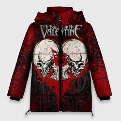 Женская зимняя 3D-куртка с капюшоном с принтом BFMV: Duo Skulls, цвет: 3D-черный, артикул: 10064310206071 — фото 1