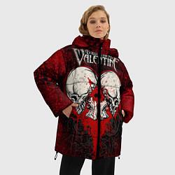 Куртка зимняя женская BFMV: Duo Skulls цвета 3D-черный — фото 2