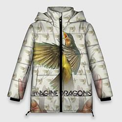 Куртка зимняя женская Imagine Dragons: Fly цвета 3D-черный — фото 1