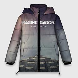 Женская зимняя 3D-куртка с капюшоном с принтом Imagine Dragons: Night Visions, цвет: 3D-черный, артикул: 10064384306071 — фото 1