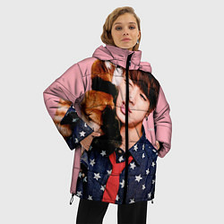 Женская зимняя 3D-куртка с капюшоном с принтом BTS: Love Me, цвет: 3D-черный, артикул: 10071615506071 — фото 2