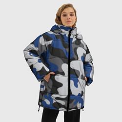 Куртка зимняя женская Зимний камуфляж цвета 3D-черный — фото 2