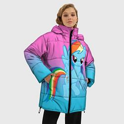Женская зимняя 3D-куртка с капюшоном с принтом My Little Pony, цвет: 3D-черный, артикул: 10075443506071 — фото 2