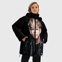Куртка зимняя женская Вишня цвета 3D-черный — фото 2