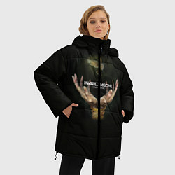Женская зимняя 3D-куртка с капюшоном с принтом Imagine Dragons: Smoke + Mirrors, цвет: 3D-черный, артикул: 10078925306071 — фото 2
