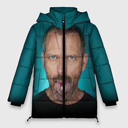 Женская зимняя 3D-куртка с капюшоном с принтом Хаус с таблеткой, цвет: 3D-черный, артикул: 10079018006071 — фото 1