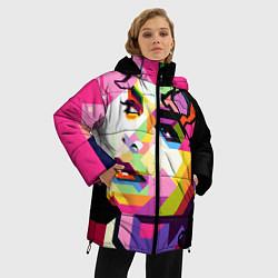 Куртка зимняя женская Michael Jackson Art цвета 3D-черный — фото 2