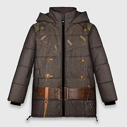 Куртка зимняя женская Шинель цвета 3D-черный — фото 1