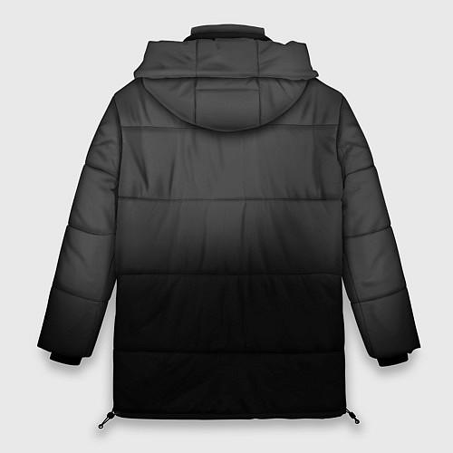 Женская зимняя куртка Группа Кино / 3D-Черный – фото 2