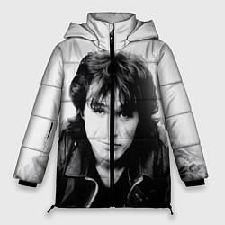 Куртка зимняя женская Кино: Виктор Цой цвета 3D-черный — фото 1