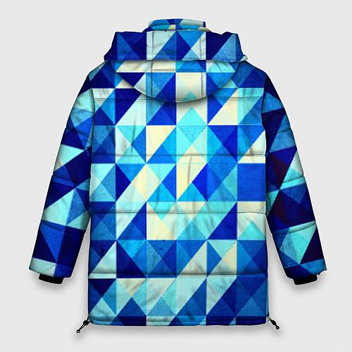Женская зимняя куртка Синяя геометрия / 3D-Черный – фото 2