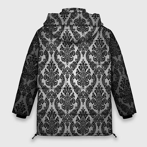 Женская зимняя куртка Гламурный узор / 3D-Черный – фото 2