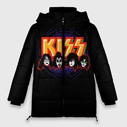 Куртка зимняя женская KISS: Death Faces цвета 3D-черный — фото 1