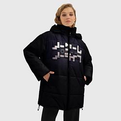 Куртка зимняя женская No Game No Life лого цвета 3D-черный — фото 2