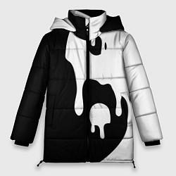 Куртка зимняя женская Инь Янь цвета 3D-черный — фото 1
