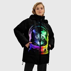 Куртка зимняя женская Кот космонавт - фото 2