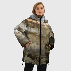 Женская зимняя 3D-куртка с капюшоном с принтом S.T.A.L.K.E.R: Toxic Heaven, цвет: 3D-черный, артикул: 10091870906071 — фото 2