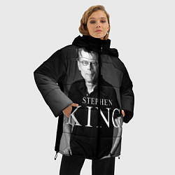 Женская зимняя 3D-куртка с капюшоном с принтом Стивен Кинг, цвет: 3D-черный, артикул: 10095786506071 — фото 2