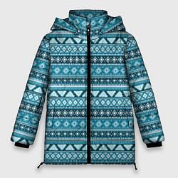 Куртка зимняя женская Винтажный орнамент цвета 3D-черный — фото 1