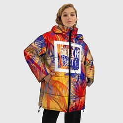 Женская зимняя 3D-куртка с капюшоном с принтом Beach Party, цвет: 3D-черный, артикул: 10096481606071 — фото 2