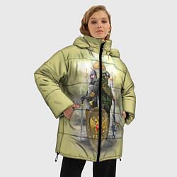 Женская зимняя 3D-куртка с капюшоном с принтом Имперская русь, цвет: 3D-черный, артикул: 10096755806071 — фото 2