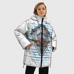 Женская зимняя 3D-куртка с капюшоном с принтом ВДВ, цвет: 3D-черный, артикул: 10099218506071 — фото 2