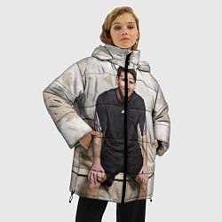 Женская зимняя 3D-куртка с капюшоном с принтом Улыбчивый Месси, цвет: 3D-черный, артикул: 10099708706071 — фото 2