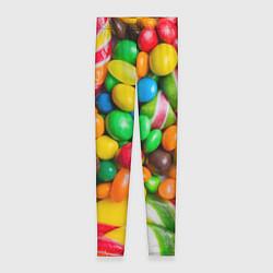 Леггинсы женские Сладкие конфетки цвета 3D — фото 1
